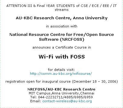 Wi-fi with Foss